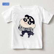 Crayon Shin-chan Clothing Japan Anime Children Short Sleeve T Shirt Shin Summer Shirts White Top Boy Girl Clothes YUDIE