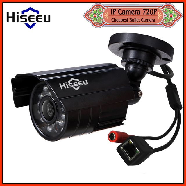 Hiseeu 720 P 1.0MP Семья Безопасности Мини Пуля IP CCTV Камеры крытый ИК CUT Ночного Видения P2P ONVIF 2.0 Дистанционного freeshipping HBB10