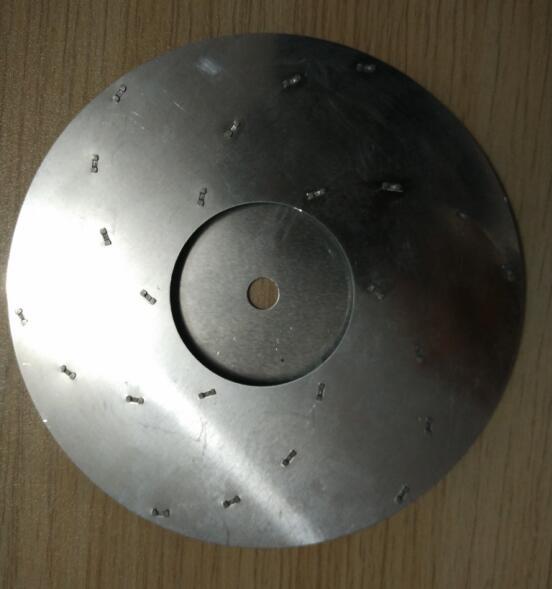 125mm Diameter Vacuum Cleaner Parts Flat Aluminum Impeller For Motor Fan Blade Thickness 7mm