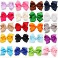 20 pçs/lote Colorido Fita Grampo de Cabelo Presilhas para Crianças Meninas Do Bebê Arcos Grampos de cabelo Meninas Acessórios Para o Cabelo Grampo de Cabelo headwear