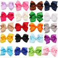 20pcs/lot Colorful Barrettes for Children Baby Girls Ribbon Hair Clip Bows Girls Hairpins Hair Accessories Hairgrip headwear