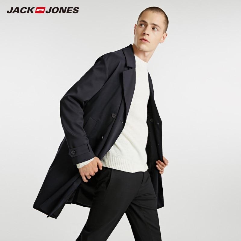 JackJones Autumn Men's Fashion Style Solid Color Long Casual Coat Jacket|218321556