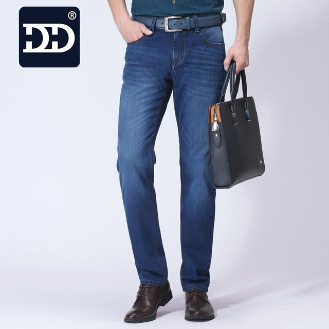 Dingdi Marca Ropa Healthty Algodón Suave Fábrica de Jeans de Moda Hombres Slim Fit jeans Pantalones Vaqueros Casuales Pantalones pantalones vaqueros de los hombres