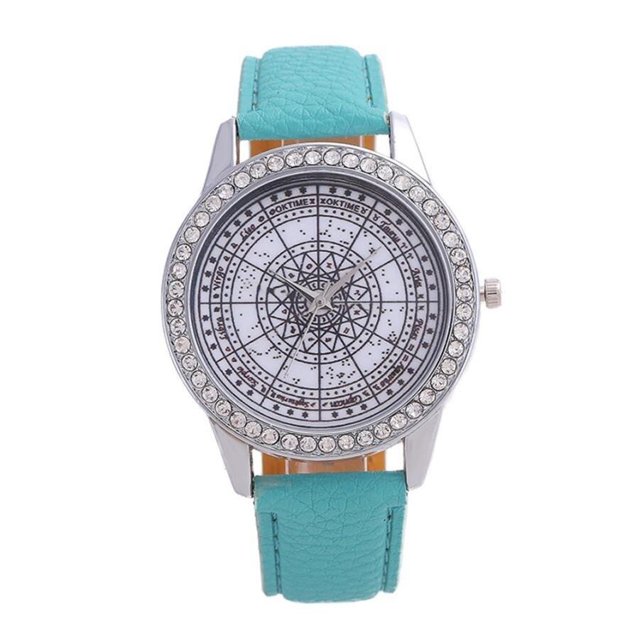 Dropship Montre Femme Luxury Fashion Women Crystal Simple Watch Ladies Leather Belt Watch For Gift Ladies Watch Rhinestone penda
