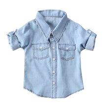 ca4b214ec Niño enfant Kid chica chico Tops ropa bebé recién nacido Niñas Niños niños  Camisas Caballero traje de mezclilla camisa chaleco r.
