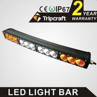 Wholesale 120W LED WORK LIGHT BAR white amber curved 21.9