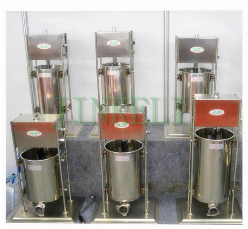 18 Commercial Electric Sausage Stuffer 15L Sausage Filling Machine Automatic Stainless Steel Sausage Filler 220V With 4 Funnels