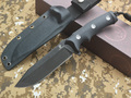 Black Dragon Tactical Fixed Knives,DC53 Blade G10 Handle Camping Survival Knife,Outdoor Tools Hunting Knife.