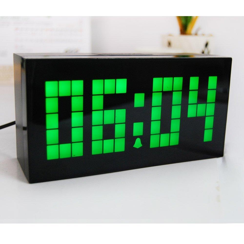Desktop LED Klok Digitale Kalender Temperatuur Wekker Slaapkamer ...