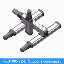 RXS100XYZ-X XYZ Table Motorized Ball Screw CNC Linear Slide Module Guide Motion Rail Actuator Robotic Arm Kit Z Axis 200 mm