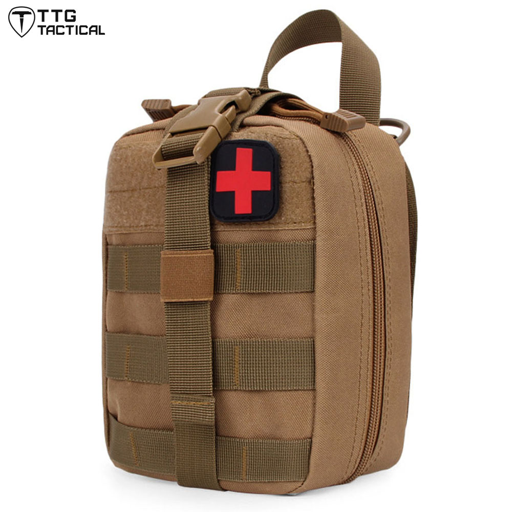 TTGTACTICAL Medical Pouch MOLLE Rip-Away EMT Medical Bag First Aid IFAK Blowout Pouch with First Aid Patch