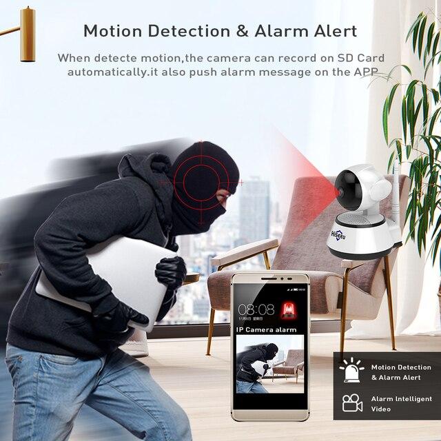 Home Security IP Camera Wireless Smart WiFi Camera WI-FI Audio Record Surveillance Baby Monitor HD Mini CCTV Camera Hiseeu 1080P 3