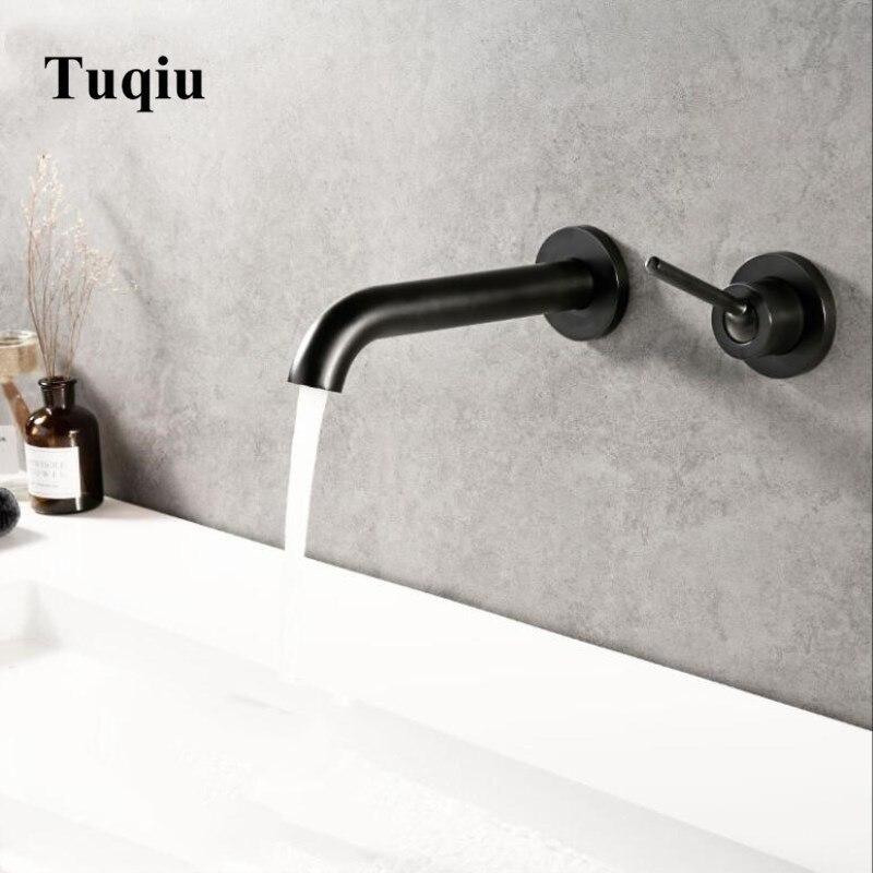 u wall mount bath sink brass mixer
