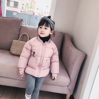 PPXX 2019 Winter Thick Children Coat Down Cotton Parka Kids Bomber Jacket Baby Girl Boy Windbreaker Hooded Toddler Kid Clothing