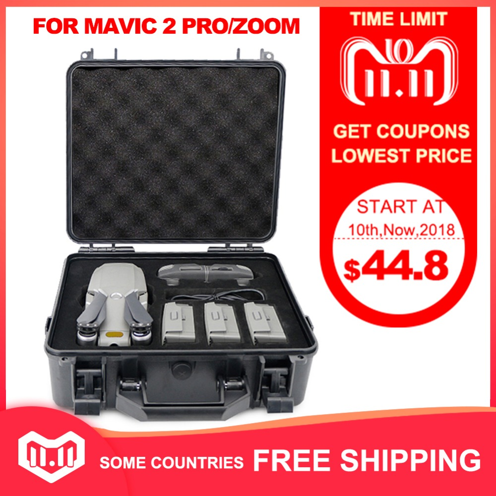Explosion-proof Box DJI Mavic 2 Pro Zoom Bag Box High Capacity Storage Case for DJI Mavic 2 Pro Mavic 2 Zoom Drone Accessories квадрокоптер dji mavic 2 zoom