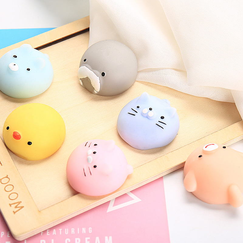 BIG Animal Change Color Squishy Cute Cat Antistress Ball Squeeze Mochi Rising Abreact Soft Sticky Stress Relief Funny Toys