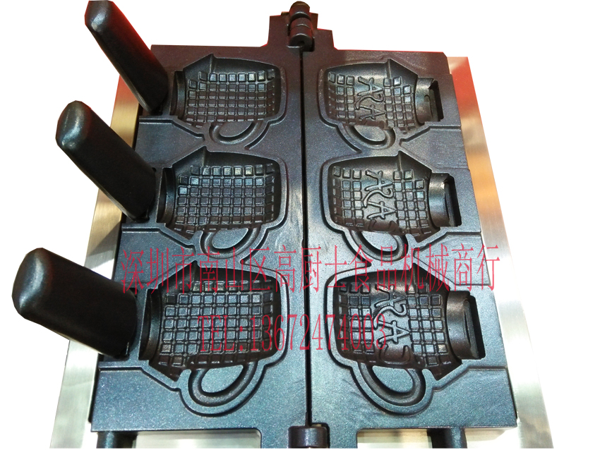 Free shipping~ new product Electric 110v or 220v Ice cream waffle machine Cup shape high tech and fashion electric product shell plastic mold