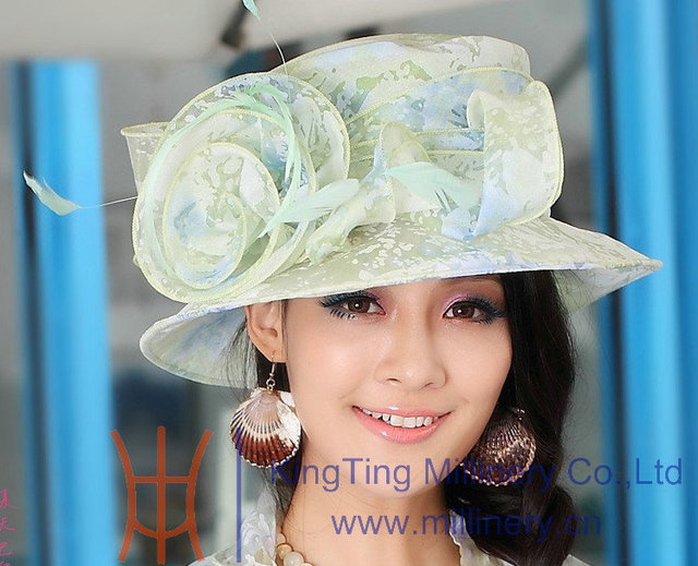 e1775e00cdbb8 Free Shipping Hot Sale Fashion New Women Hat Summer Women Organza Hat  Ladies Sun Hat Beach