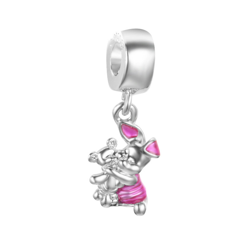 Beads Free Shipping 1pc Christmas Gift Gold Silver 2 Tones Boy Swing Hanging Bead Charms Fits European Pandora Charm Bracelets A330