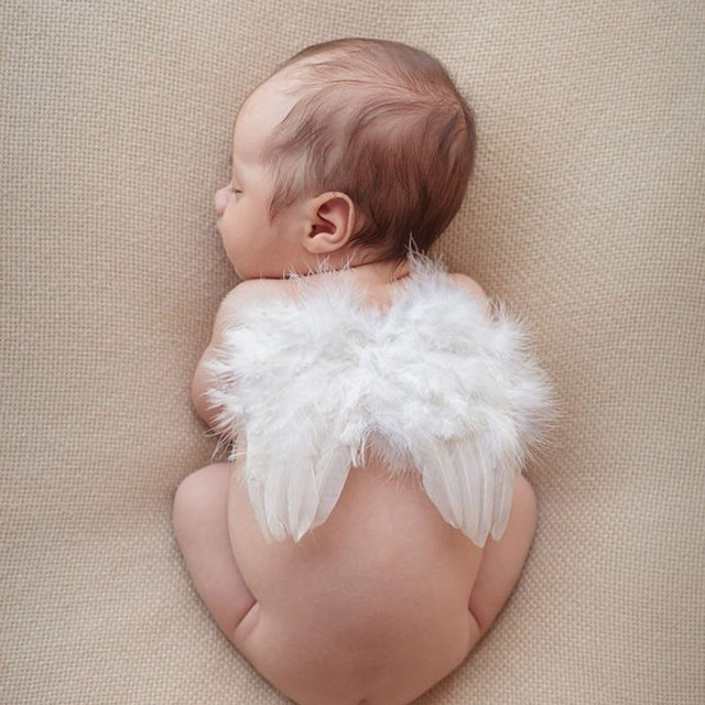 Newborn photography props wings baby headbands dress photo shoot hair accessories for newborns head band photography