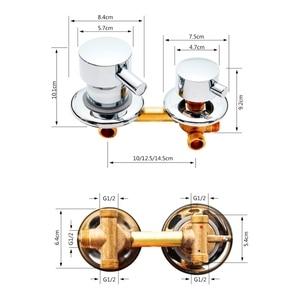 Image 4 - 2/3/4/5 Ways Water Outlet Screw Thread Center Distance 10cm 12.5cm Mixing Valve Brass Bathroom Shower Mixer Faucet Tap Cabin