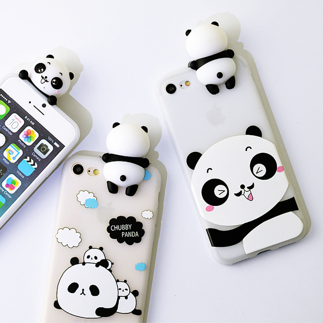 3D Cute Case For iPhone 6 Case 3D Panda Soft Silicone Case ...