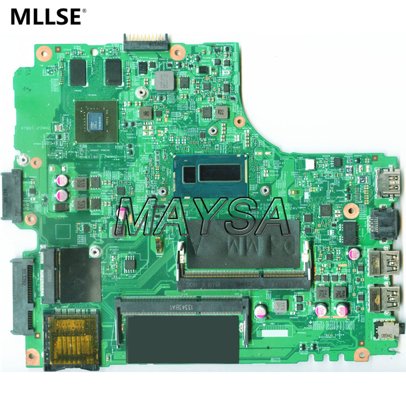 все цены на CN-0Y5JJK FOR Dell Inspiron 3437 5437 Laptop Motherboard DOE40-HSW 12314-1 PWB:VF0MH REV:A00 2955U 720M/1G mainboard онлайн