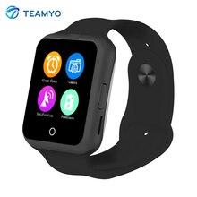 Монитор Сердечного ритма Смарт Bluetooth Watch Синхронизации C88 Notifier Поддержка Sim-карта TF Камеры Smartwatch для iPhone IOS Android Телефоны