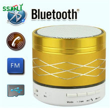 Ssdfly LED Light Portable Mini Metal Wireless Bluetooth Speaker USB Digital Music Power Amplifier FM Radio Subwoofer MP3 Player(China)