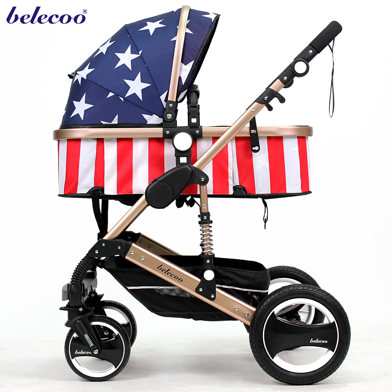 Be good at calligraphy belecoo bella baby stroller folding four-wheel shock absorbers baby stroller baby stroller baby stroller shock absorbers light folding stroller 4runner