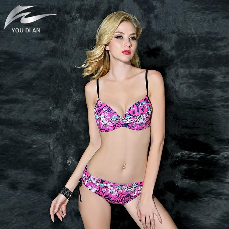ФОТО 2017 Summer Bikini Brazilian Beachwear Big Cup Swimwear Women Push Up Swimsuit Plus Size Bathing Suit Swimming Bathing Suit
