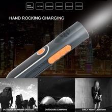 Multifunction Dynamo Torch Flashlight Portable Power Bank Radio Hand Crank Flashlight Outdoor for Camping