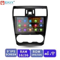 EKIY 9'' 2.5D Car Multimedia Player Audio Android No 2 Din Auto Radio For Subaru Forester XV WRX 2012 2018 GPS Navigation 3G/4G