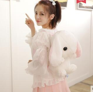 Princess sweet lolita backpack Lovely sprouting lop knapsack cute and adorable rabbit bag soft sister split backpack ZV046 rabbit lop english lop lolita style kawai quality plush bag cartoon shoulder bag anime toy best gift for children and girls