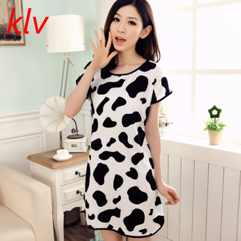 New Women Cartoon Polka Dot Sleepwear