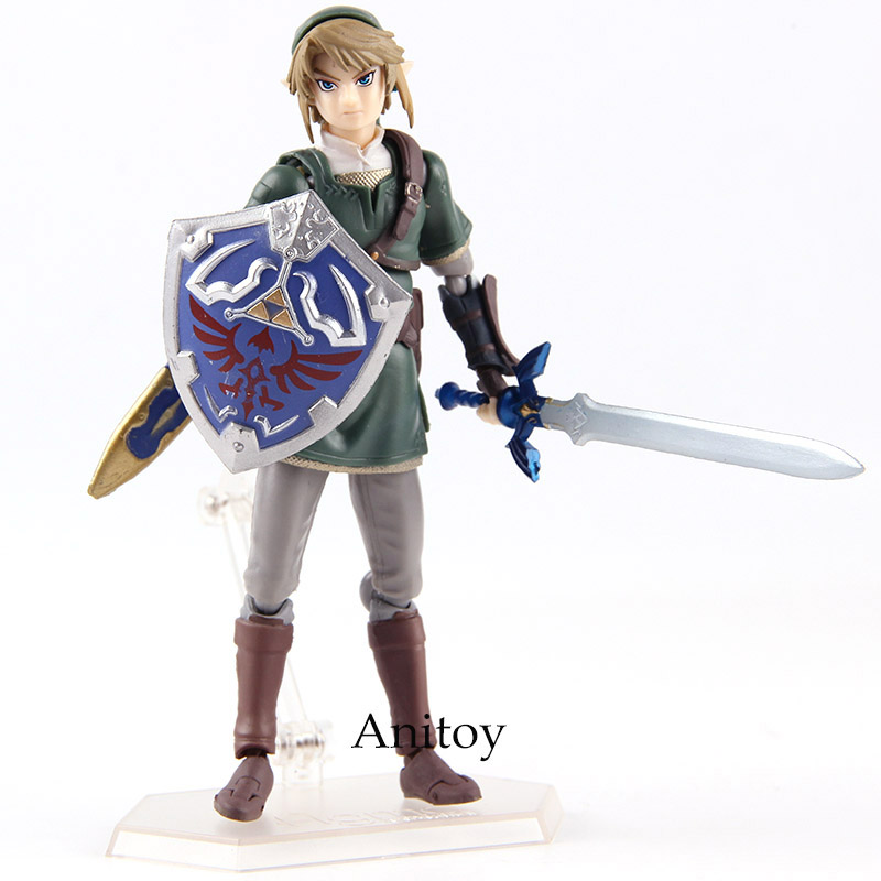 Figma 320 Link Twilight Princess Ver. DX Edition The Legend of Zelda Twilight Princess Action Figure PVC Collectible Model Toy