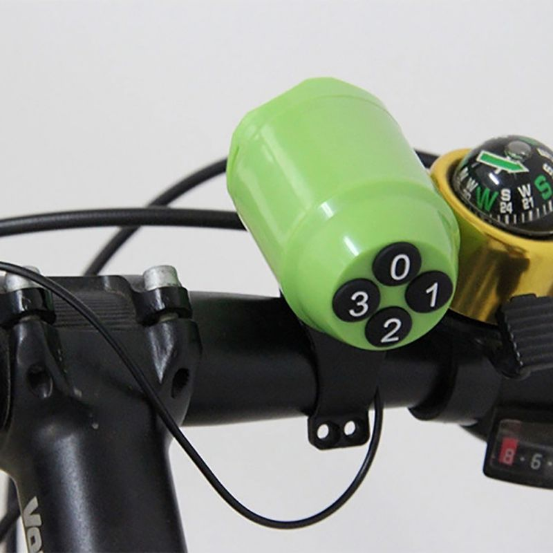 New Safe Waterproof Ring Bell Alarm Speaker Cyclist Loud Electric Bicycle Horn Password Bike Handlebar Accessories