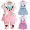 Nova roupa dos miúdos do bebê conjuntos de roupas meninas de verão para crianças conjuntos de roupas meninas da criança dress leggings imprimir dot menina do verão conjunto