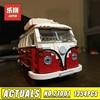City Series 1354pcs Lepin Technic 21001 The Volkswagen T1 Camper Van Car Styling Building Bricks Kits