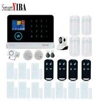 SmartYIBA APP Control Home Security Burglar Security Alarm System WIFI Camera Smoke Alarm PIR Sensor Door