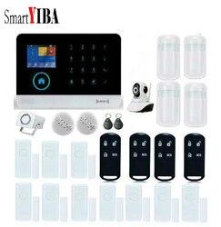 SmartYIBA APP sterowania bezpieczeństwa w domu włamywacz System alarmowy kamera WIFI czujnik dymu czujnik PIR drzwi luka zestawy alarmowe