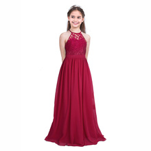 AmzBarley Girls Formal Dress Childrens Lace Chiffon Party Princess dresses Long Wedding outfits Costume for Teenagers