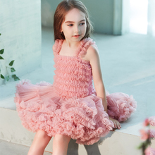 B&N Ball Gown Baby Chiffon Ruffle Dress Set Boutique Princess Girls Costumes Vest Siamese Pettiskirts For Party And Wedding