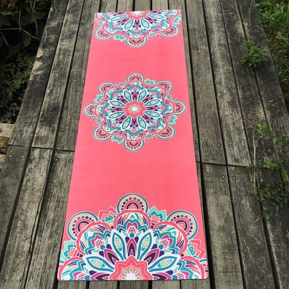 Natural Rubber Yoga Mat Martial arts Slip-Resistant Meditation Mattress Indoor Fitness Gym Exercises Lose Weight Aerobics Pad
