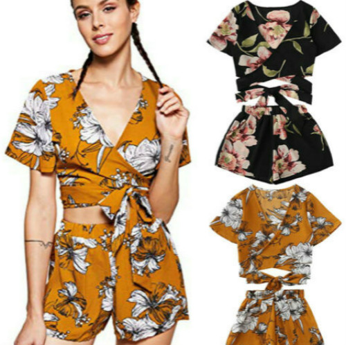 new-fashion-sexy-women-short-sleeves-floral-print-casual-soft-v-neck-short-jumpsuit-pants-set-2pcs-romper-clothing-set