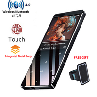 MP4 Player With Bluetooth4.0 1.8In Screen Lossless 16GB Hifi Music Player Touch With FM,Mini usb,TF Card Support Up To 128GB