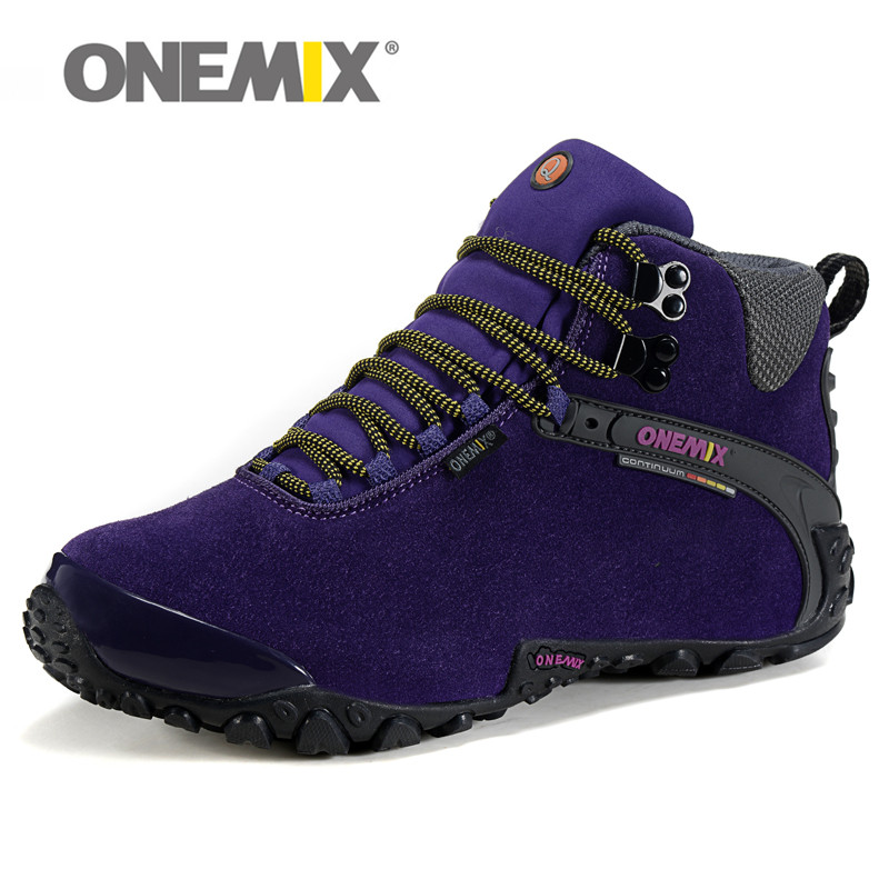 High Quality onemix Hot Hiking Shoes Women&Men Waterproof Outdoor Walking Sport Comfortable Breathable Sneaker for Lady Trainers outdoor genuine leather tactical walking shoes men army antiskid waterproof breathable cowhide antikid rubber sport boot sneaker