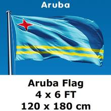 Aruba Flag 120 x 180 cm Blue Yellow Stripes Pentagram 100D Polyester Aruba Flags And Banners(China)
