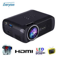 Everycom мини-проектор media кинотеатр люмен player lcd full тв домашний hdmi