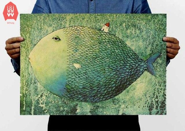 Grote Posters Slaapkamer : Grote vis kleine huis veel in kraftpaper poster kinderen